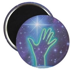 Abstract artwork of hand reaching to the st Magnet