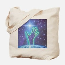 Abstract artwork of hand reaching to the  Tote Bag