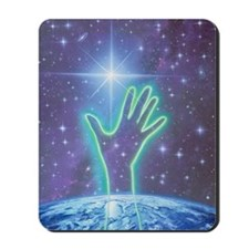 Abstract artwork of hand reaching to the Mousepad