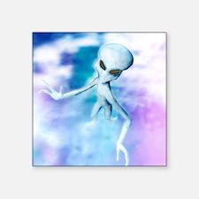 """Alien Square Sticker 3"""" x 3"""""""