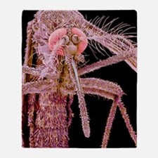 Asian tiger mosquito, SEM Throw Blanket