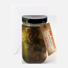 Alien in a jar, Roswell, New Mexico Greeting Card
