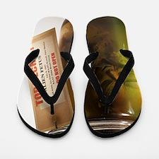 Alien in a jar, Roswell, New Mexico Flip Flops