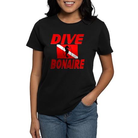 Dive Bonaire (red) Women's Dark T-Shirt