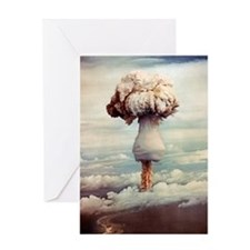 Atomic bomb explosion Greeting Card