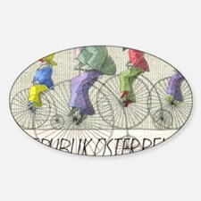 1985 Austria Bicycles Postage Stamp Decal