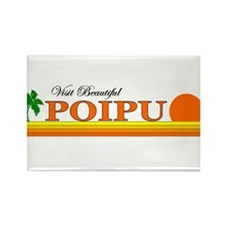 Visit Beautiful Poipu, Hawaii Rectangle Magnet (10