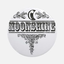 Moonshine Round Ornament