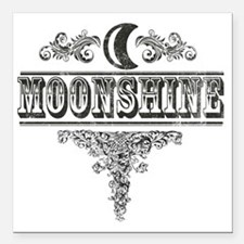 "Moonshine Square Car Magnet 3"" x 3"""