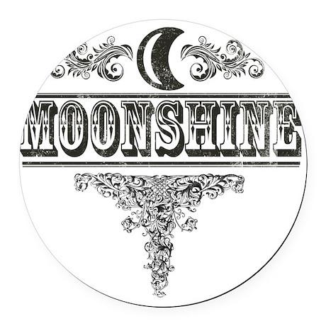 Moonshine Round Car Magnet