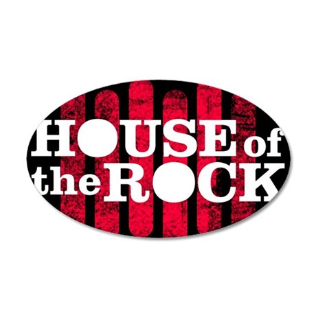"""House of the Rock"" Logo 35x21 Oval Wall Decal"