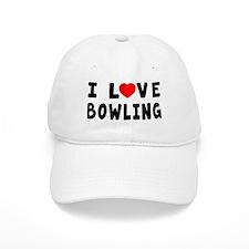 I Love Bowling Baseball Cap