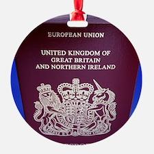 British passport Ornament