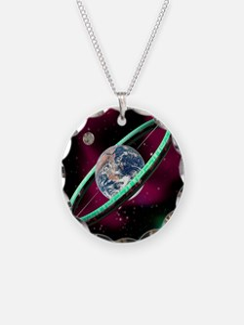 Artwork of a torus-shaped sp Necklace