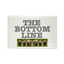 THE BOTTOM LINE - RHINOS Rectangle Magnet