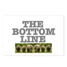 THE BOTTOM LINE - RHINOS Postcards (Package of 8)