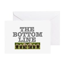 THE BOTTOM LINE - RHINOS Greeting Card