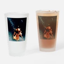 Artwork of Apollo 11 lunar module o Drinking Glass