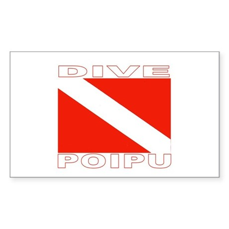 Dive Poipu, Hawaii Rectangle Sticker