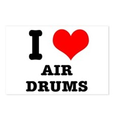I Heart (Love) Air Drums Postcards (Package of 8)