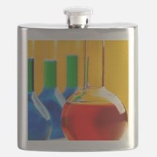 assorted s filled with coloured liquid Flask