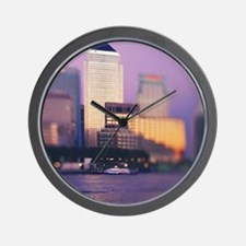 Canary Wharf skyscrapers Wall Clock