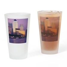 Canary Wharf skyscrapers Drinking Glass