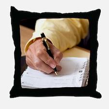 Business diary Throw Pillow