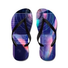 Biometric fingerprint Flip Flops