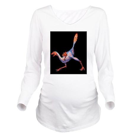 Artwork of Caudipter Long Sleeve Maternity T-Shirt
