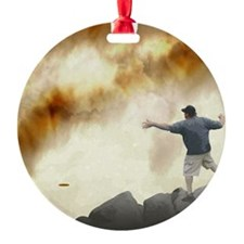 Volcano Disc Golf Ornament