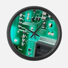Circuit board Large Wall Clock