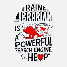 Super Librarian Oval Ornament