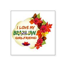 """Brazilian Girlfriend design Square Sticker 3"""" x 3"""""""