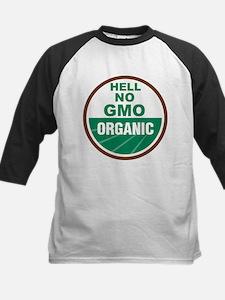 Hell No GMO Organic Kids Baseball Jersey