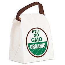 Hell No GMO Organic Canvas Lunch Bag