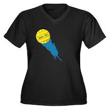 Water Polo Women's Plus Size V-Neck Dark T-Shirt
