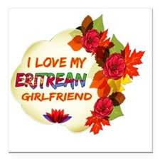 "Eritrean Girlfriend desi Square Car Magnet 3"" x 3"""