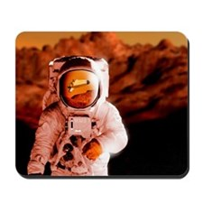 Computer artwork of an astronaut on Mars Mousepad