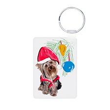 Yorkie Christmas Keychains