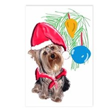 Yorkie Christmas Postcards (Package of 8)