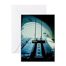 Canary Wharf tube station Greeting Card