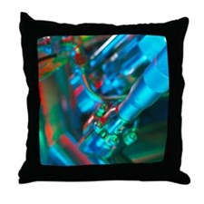 Close-up of part of a mass spectromet Throw Pillow