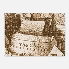 globetheatre2-men 5'x7'Area Rug