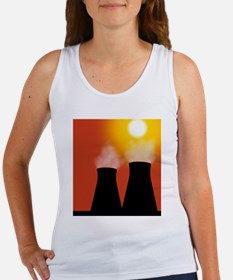 Cooling towers at sunset, artwork Women's Tank Top