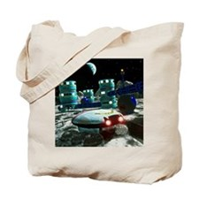 Computer artwork of a future lunar base Tote Bag