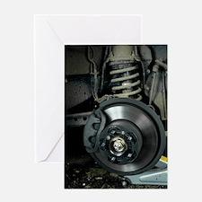 Car disc brake Greeting Card