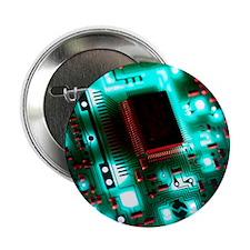 """Circuit board 2.25"""" Button"""