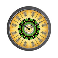 Sunny Baskets Wall Clock