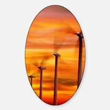 Computer graphic of wind farm at su Decal